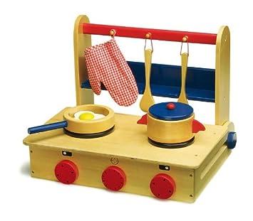 legler kinder spielküche holz küche im koffer: amazon.de: spielzeug - Küche Kinder Holz