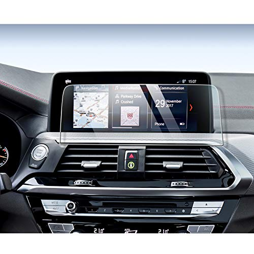 YEE PIN X4 X3 Screen Protector for 2018 G01 X3 M40i 2019 2020 X4 X3 G02 Center Control Touch Screen, Car Navigation Display Glass Protective Film (10.25-inch)