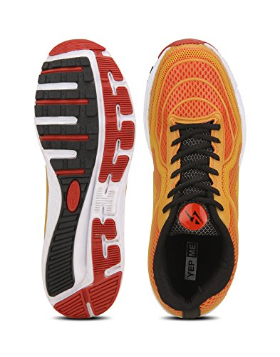 Yepme - Zapatillas de atletismo de Material Sintético para hombre naranja naranja