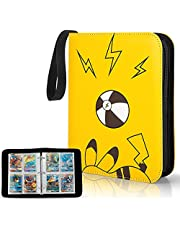 YINKE Case Binder Holder for Pokemon Kaarten Card,PM TCG Card, Game Cards, Holds Up to 400 Trading Cards with 50 Premium 4-Pocket Page