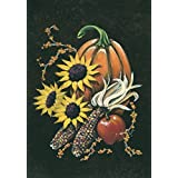 Toland Home Garden Indian Corn 12.5 x 18 Inch Decorative Fall Autumn Harvest Pumpkin Garden Flag