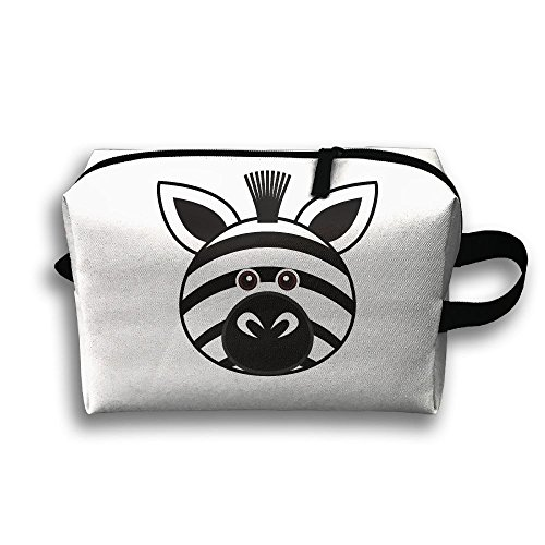 Funny Zebra Face Travel Bag Cosmetic Bags Brush Pouch Portable Makeup Bag Zipper Wallet Hangbag Pen Organizer Carry Case Wristlet Holder -