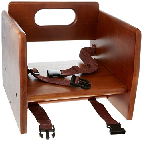 Excellante' Finish Wood Stacking K/D Booster Seat, Walnut (Booster Wood Booster Seat)