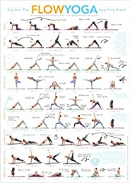 Flow Yoga Poses & Stretching Exercise Poster: Instructional Poster for Yoga Workout, a Flow Chart of Yoga