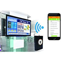 Wi-Fi Enabled Digital Signage Player. Control Content via iPhone. Play PowerPoint, YouTube or Website(s). Display Google Calendars, Facebook Album, News, Weather, Currency, Stock Quotes on ANY monitor