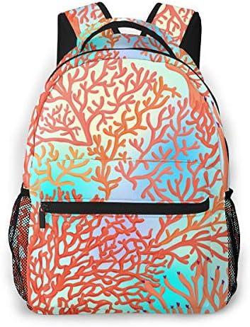 Corals On Blue Sea Freizeitrucksack Freizeitrucksäcke für Schulreisen