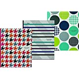 Five Star 34122 Style Poly Pocket and Prong Portfolio, 11-5/8x9-7/16-Inch, 3 Assorted Designs