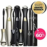 """Mirenesse Cosmetics"" 4 Piece Award Winning 24Hr Secret Weapon Mascara Collection – 4.0g/0.14 x 3 + 3.5g/0.12 x 1 (Black) – AUTHENTIC Review"