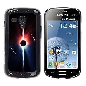 Fiery aligeramiento Iniciación - Metal de aluminio y de plástico duro Caja del teléfono - Negro - Samsung Galaxy S Duos S7562