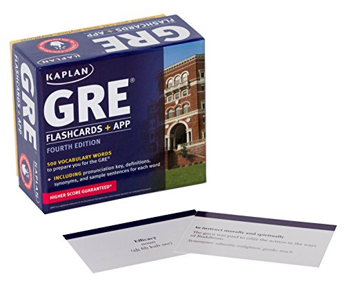 GRE Vocabulary Flashcards + App (Kaplan Test Prep) cover