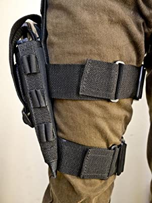 """Outbags OB-09TAC Nylon Tactical Drop Leg Holster for Ruger GP100 / SP101, Taurus 65 / 66 / 82 / 689 Magn. / Tracker 4"""", S&W 66 / 586 / 686, and Most 4"""" Revolvers"""