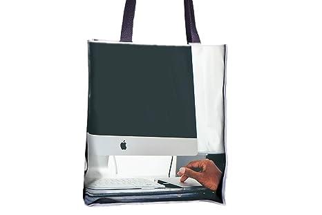 African american, ordenador, tecnología Allover impresa ...
