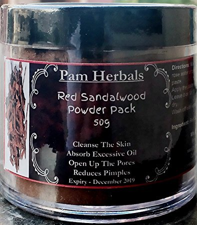 - Pam Herbals Khadi Red Sandalwood Powder For Face pack,Worship & Auspicious occasions