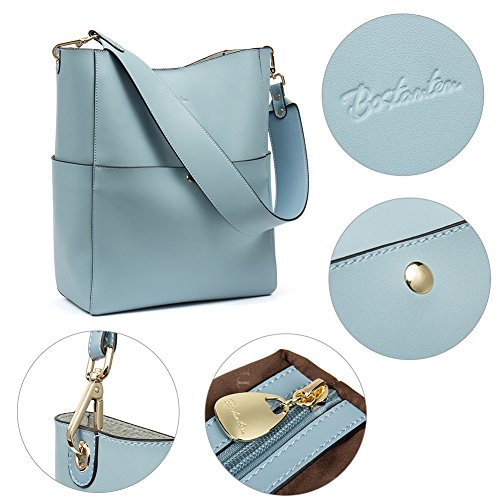 sac BOSTANTEN grand main de cuir Femme véritable Noir sac main à Bleu bandoulière sac sac Clair sac main à à à de fourre concepteur ffRTrq8xw