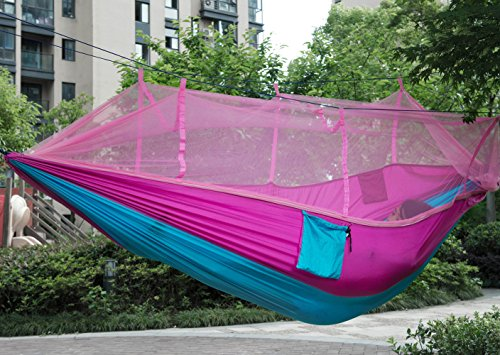 Premium Quality Camping Hammock, Lightweight Parachute Fabric Travel Bed Mosquito Net Outdoor Hammock For Indoor, Camping, Hiking, Backpacking, Backyard (Gps Protective Skin)