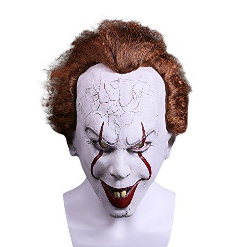 Halloween 2 Mask (KASST Latex Halloween Clown Cosplay Costume Cosplay The Clown Mask (2))