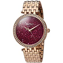 Caravelle New York Women's 44L221 Swarovski Crystal  Rose Gold Tone Watch