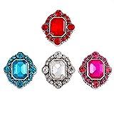 Loweryeah 4PCs Four Color Set Auger snap Buttons