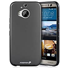 Fosmon HTC One M9+ Case (DURA-FRO) Slim-Fit Flexible TPU Gel Case Cover for HTC One M9+ - Fosmon Retail Packaging (Black)