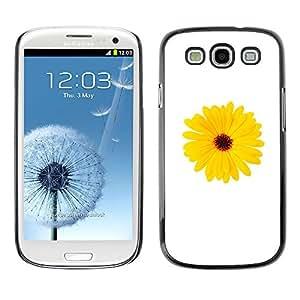 MOBMART Carcasa Funda Case Cover Armor Shell PARA Samsung Galaxy S3 - Focal Yellow Sunflower