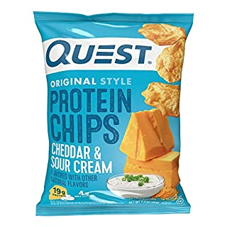 Quest Nutrition Protein Chips, Cheddar & Sour Cream, Pack of 12