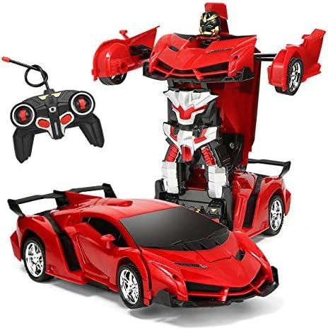 Rc Car Toy For Kids Transform Car Robot Remote Control Car 1:18 For Boy 3 4 5 6