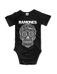 IdWAX Ramones Baby Boys Girls Short Sleeve Onesies Bodysuit