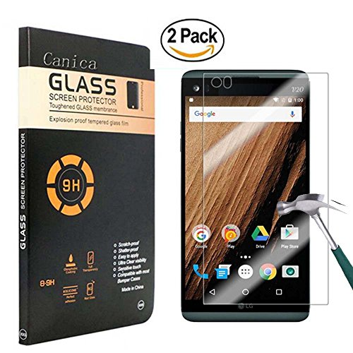 LG V20 Screen Protector,LG V20 Tempered Glass Screen Protector,Canica LG V20 Screen Protector for LG V20 Clear HD Film (2 Pack)