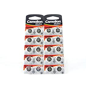 20 CAMELION AG13 A76 LR44 357 L1154 Button Cell Watch Battery With Long Shelf Life (Expire Date Marked)
