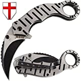 Grand Way Folding Karambit Knife - Best Pocket Karambit Claw Knives - Spring Assisted Karambit - Top Csgo Tactical Carambit 86051