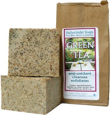 SallyeAnder Green Tea Soap Quantity Single Bar