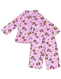 Dora the Explorer Pink Animals Coat-Style Pajamas for Toddler Girls
