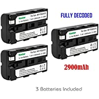 Kastar 3x Battery for Sony NP-F570 NP-F550 NP-F530 NP-F330 & CCD-RV100 RV200 CCD-SC5 CCD-SC9 CCD-TR1 CCD-TR215 CCD-TR940 CCD-TR917 Camcorder, CN-126 CN-160 CN-216 CN-304 YN 300 VL600 LED Video Light