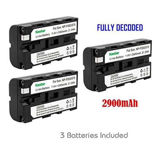 Kastar 3x Battery for Sony NP-F570 NP-F550 NP-F530 NP-F330 & CCD-RV100 RV200 CCD-SC5 CCD-SC9 CCD-TR1 CCD-TR215 CCD-TR940 CCD-TR917 Camcorder, CN-126 CN-160 CN-216 CN-304 YN 300 VL600 LED Video Light