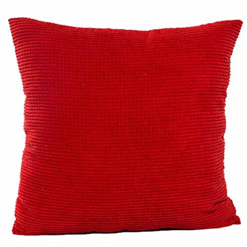 Gotd Solid Soft Corduroy Throw Pillow Case Cushion