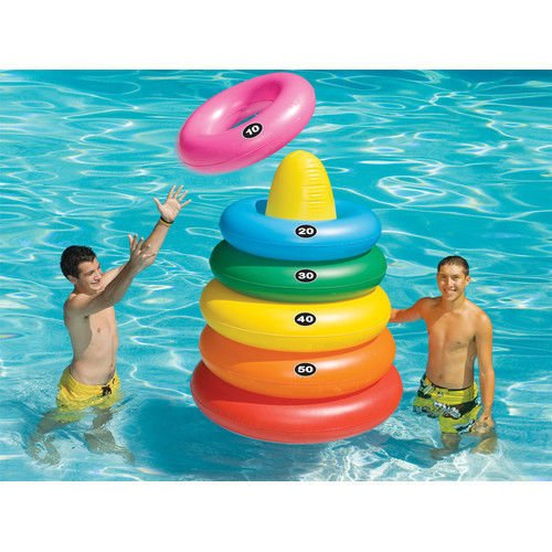 NEW Kids' Swimming Pool Fun Toys Floating Games Inflatable Giant Ring Toss