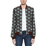 Sankt Women Africa Coat Zipper Dashiki Cotton Simplicity Baseball Jacket 7 L