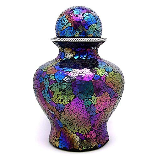 (Cremation Urn for Adult, Sphere Top, Rainbow)
