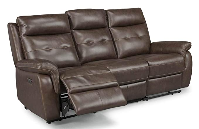 Fabulous Homestyles By Flexsteel Lux Leather Power Motion Reclining Sofa Ibusinesslaw Wood Chair Design Ideas Ibusinesslaworg
