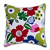 Style Homez Cotton Canvas Floral Printed Cushion XL Size Set of 2 Cover Only