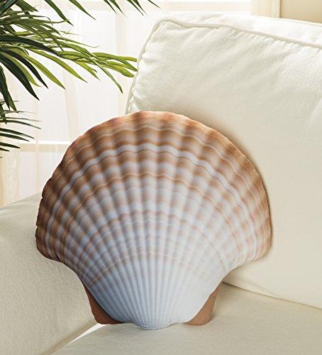 Seashell Pillow - Shaped Throw Pillow, Shell Decorative Accent Pillow (Gift Seashell)