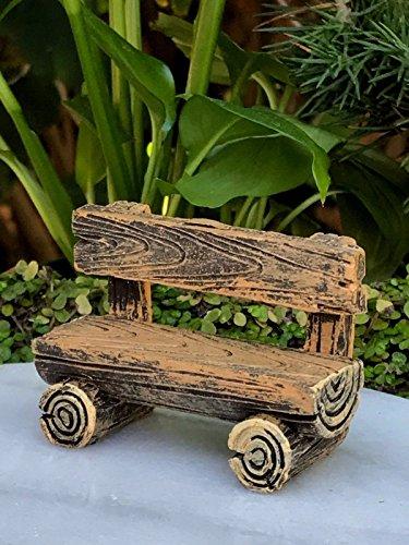 (Fairy Garden & DollHouse Build a Fairy Garden Miniature Dollhouse Fairy Garden Furniture ~ Mini Log Look Resin Bench ~ New Ideas for Everyone)