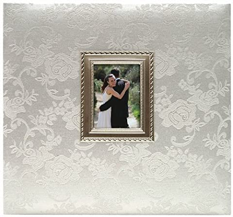 MBI 13.2x12.5 Inch Wedding Scrapbook Album with 12x12 Inch Pages, Silver (850011)