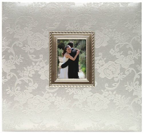 MCS MBI 13.5x12.5 Inch Wedding Scrapbook Album with 12x12 Inch Pages with Photo Opening, Silver (850011) ()