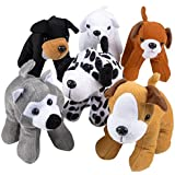 ArtCreativity Dog Plush Assortment (Set of 6) | Soft & Cuddly Stuffed Animals for Toddlers | 6 Cute Puppy Designs | Fun Birthday Party Favors | Kids Carnival Prize | Gift Idea for Boys and Girls