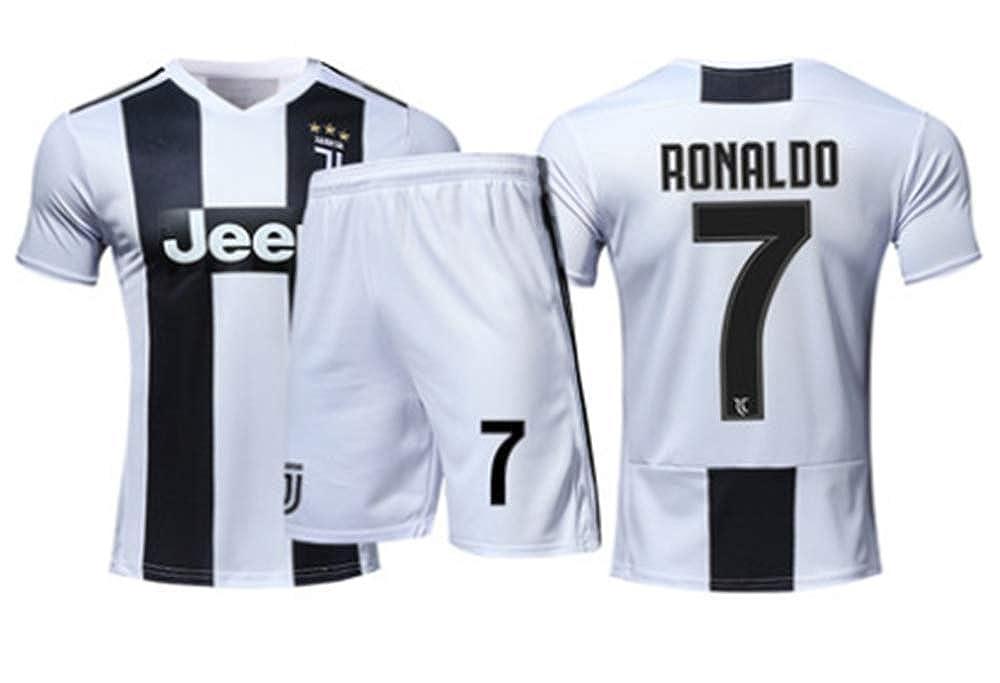 brand new bc646 8cd37 LISIMKE 2018-2019 Home C Ronaldo #7 Juventus Kids Or Youth Soccer Jersey &  Shorts & Socks White