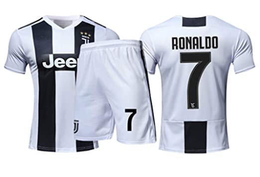 LISIMKE 2018-2019 Home C Ronaldo  7 Juventus Kids Or Youth Soccer Jersey   8ccf25f4c