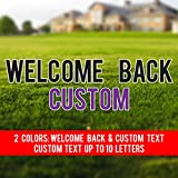Custom Welcome Back to School Yard Sign - Welcome Back Letters + Custom Name 2 Colors w/25 Short Stakes Plus Additional Stakes for Custom Word