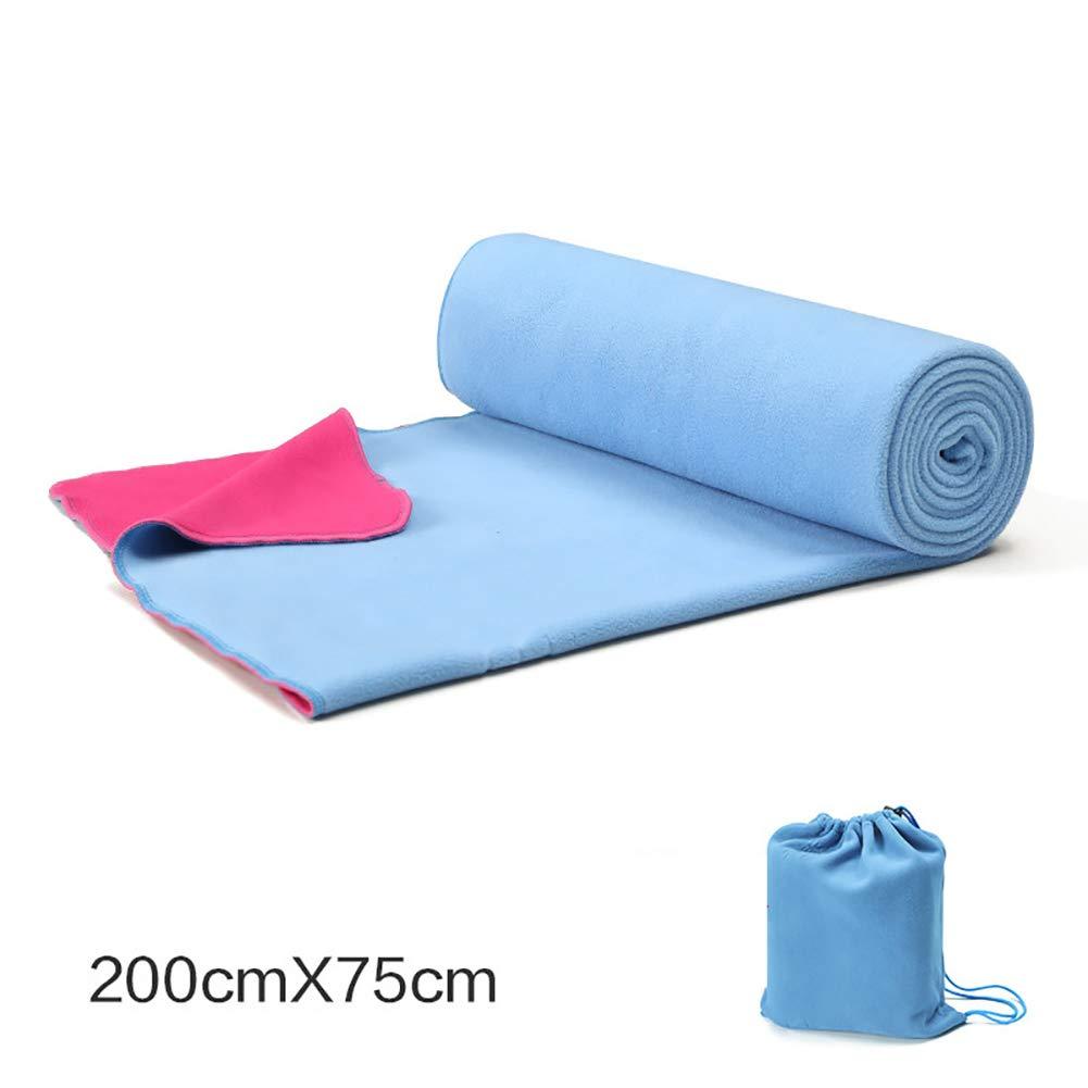 SVNA Asciugamano per Coperta Yoga, Asciugamano per Pilates (200x75cm) Imbottitura Antiscivolo per assorbire Il Sudore, Adatta per la Meditazione Yoga,blu