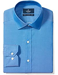 Men's Tailored Fit Spread-Collar Solid Pinpoint Non-Iron Dress Shirt